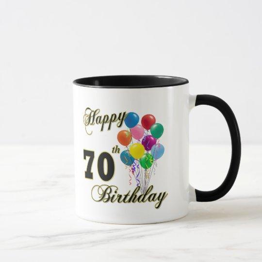 Happy 70th Birthday Gifts and Birthday Apparel Mug