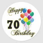 Happy 70th Birthday Gifts and Birthday Apparel Stickers