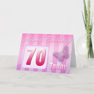 Happy 70th Birthday Grand Mother Great Aunt Mom Card