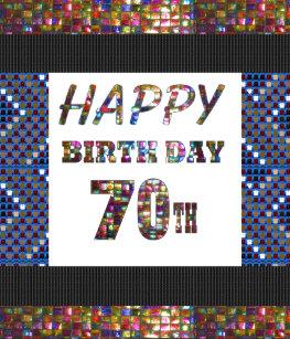 Happy 70th Birthday Heart Sticker