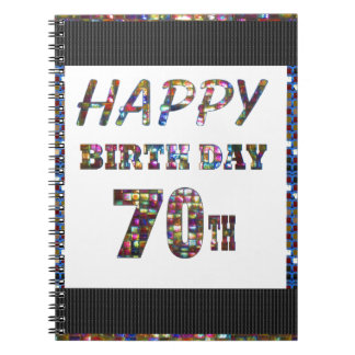 Happy 70th Birthday Notebooks