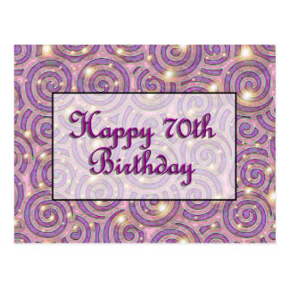 Happy 70th Birthday Postcard