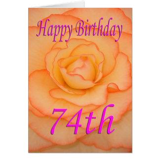 Happy 74th Birthday Flower Card