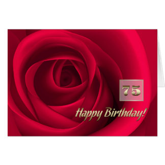 Happy 75th Birthday Customizable Greeting Cards