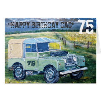 """""""Happy 75th Birthday Dad"""" 75 Greeting Card"""