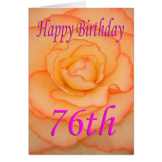 Happy 76th Birthday Flower Card