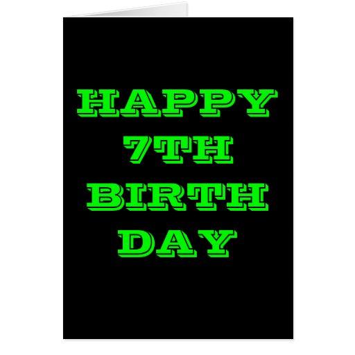 HAPPY 7TH BIRTHDAY CARDS