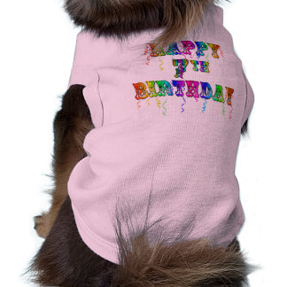 Happy 7th Birthday Circus Design Sleeveless Dog Shirt