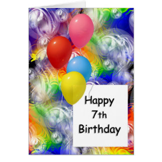 Happy 7th Birthday Greeting Card