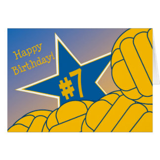 Happy 7th Birthday to my Favorite Water Polo Star! Greeting Card