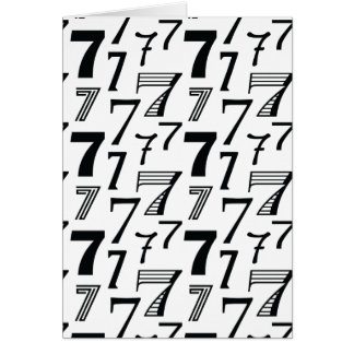 Happy 7th or 70th Birthday Number 7 Pattern Card