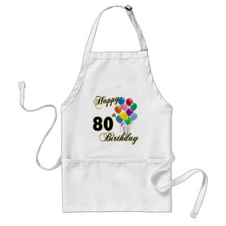 Happy 80th Birthday Gifts and Birthday Apparel Standard Apron