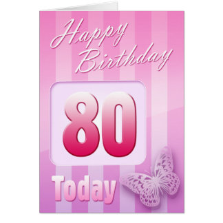 Happy 80th Birthday Grand Mother Great-Aunt Mum Card