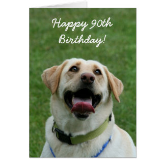 Happy 80th Birthday Labrador Retriever card