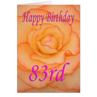 Happy 83rd Birthday Flower Card