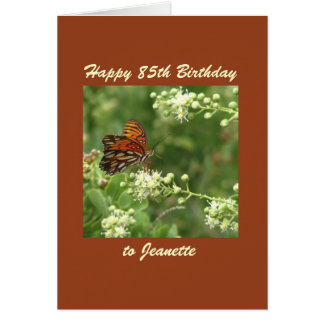 Happy 85th Birthday Greeting Card Butterfly Custom