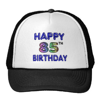 Happy 85th Birthday Mesh Hat