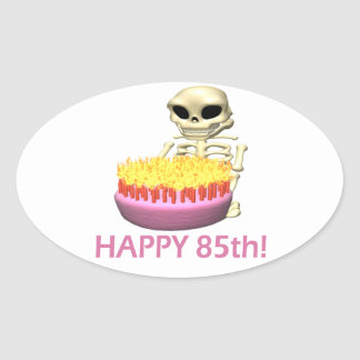 Happy 85th oval sticker