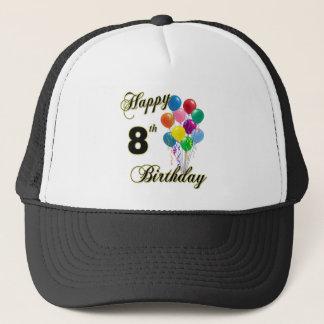 Happy 8th Birthday Caps and Baseball Hats