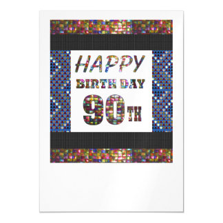 Happy 90th Birthday 90 Template DIY add TEXT QUOTE Magnetic Invitations