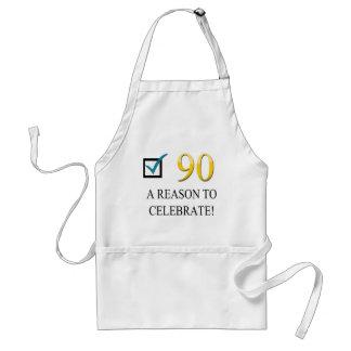 Happy 90th Birthday Adult Apron