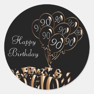 Happy 90th Birthday Classic Round Sticker