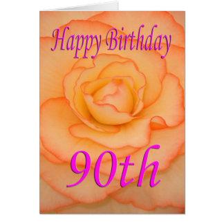 Happy 90th Birthday Flower Card