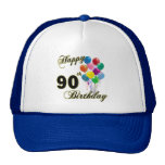 Happy 90th Birthday Gifts and Birthday Apparel Cap