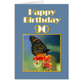 Happy 90th Birthday Monarch Butterfly Cards