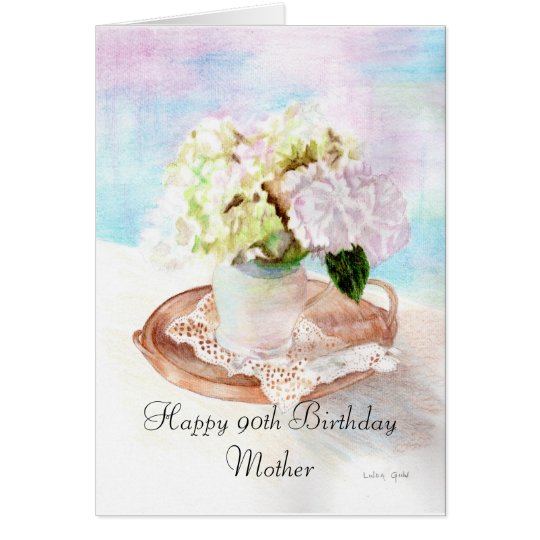Happy 90th Birthday Mother Card