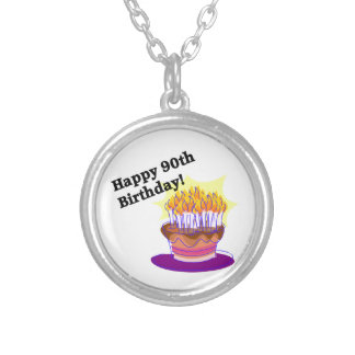 Happy 90th Birthday! Silver Plated Necklace