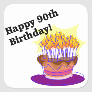 Happy 90th Birthday! Square Sticker