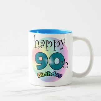 Happy 90th Birthday Two-Tone Coffee Mug