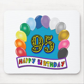 Happy 95th Birthday with Balloons Mousepad