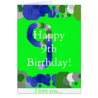 Happy 9th Birthday! Card