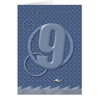 Happy 9th Birthday Greeting Card