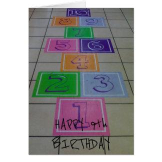 'HAPPY *****9th***** BIRTHDAY' TURNING 9 IS FUN! Card