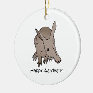 Happy Aardvark Ceramic Ornament