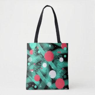 Happy Abstract Print Tote Bag