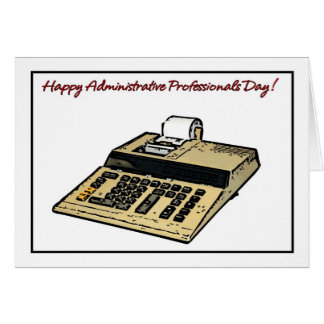 Happy Administrative Professionals Day Calculator Card