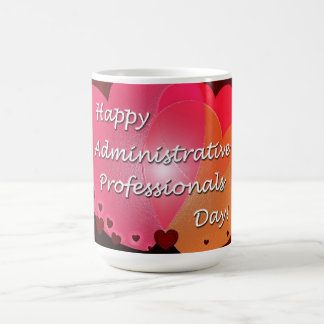 Happy Administrative Professionals Day Hearts Coffee Mug