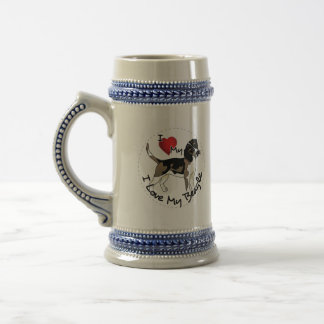 Happy Adorable & Funny Beadle Dog Beer Stein