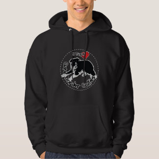 Happy Adorable & Funny Border Collie Dog Hoodie
