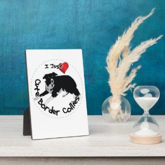 Happy Adorable & Funny Border Collie Dog Photo Plaque