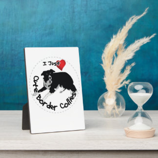 Happy Adorable & Funny Border Collie Dog Plaque