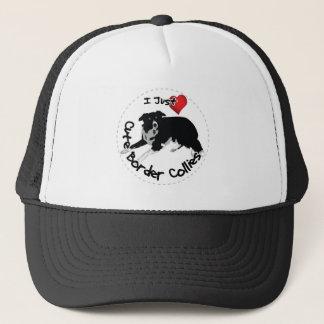 Happy Adorable & Funny Border Collie Dog Trucker Hat