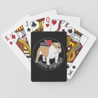 Happy Adorable & Funny Bulldog Dog Poker Deck