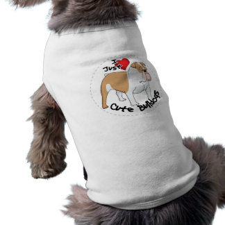 Happy Adorable & Funny Bulldog Dog Sleeveless Dog Shirt