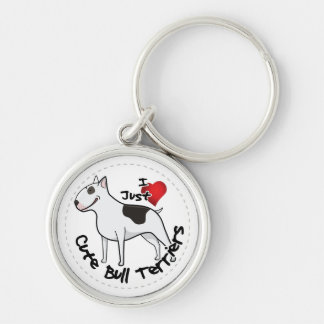 Happy Adorable Funny & Cute Bull Terrier Dog Key Ring