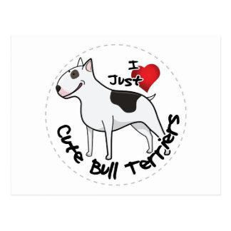 Happy Adorable Funny & Cute Bull Terrier Dog Postcard